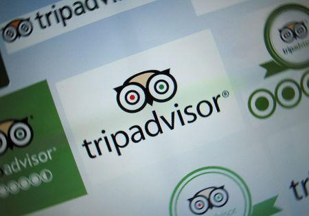 FILE PHOTO: The logo for a travel website company TripAdvisor Inc is shown on a computer screen in this illustration photo in Encinitas, California May 3, 2016. REUTERS/Mike Blake/File Photo
