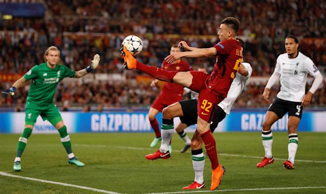 Soccer Football - Champions League Semi Final Second Leg - AS Roma v Liverpool - Stadio Olimpico, Rome, Italy - May 2, 2018 Roma's Stephan El Shaarawy in action Action Images via Reuters/John Sibley