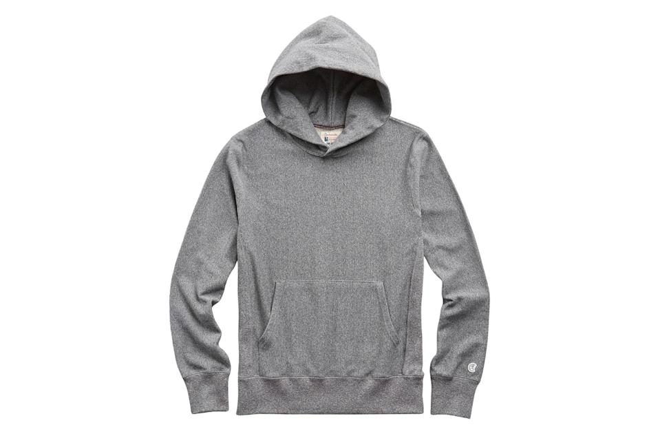 """$138, Todd Snyder. <a href=""""https://www.toddsnyder.com/collections/sale/products/popover-hoodie-sweatshirt-salt-and-pepper-1"""" rel=""""nofollow noopener"""" target=""""_blank"""" data-ylk=""""slk:Get it now!"""" class=""""link rapid-noclick-resp"""">Get it now!</a>"""