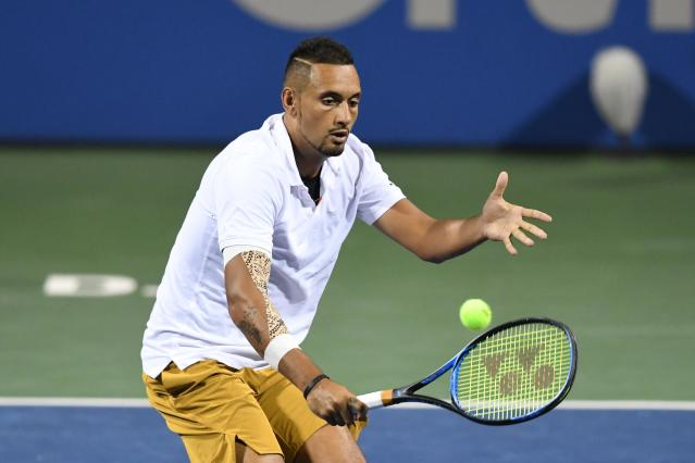 Nick Kyrgios is into the semi-final of the Washington Open. (Credit: Getty Images)