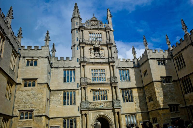 The Tower of The Five Orders, Bodleian Library, Oxford University (Photo: Sura Ark via Getty Images)