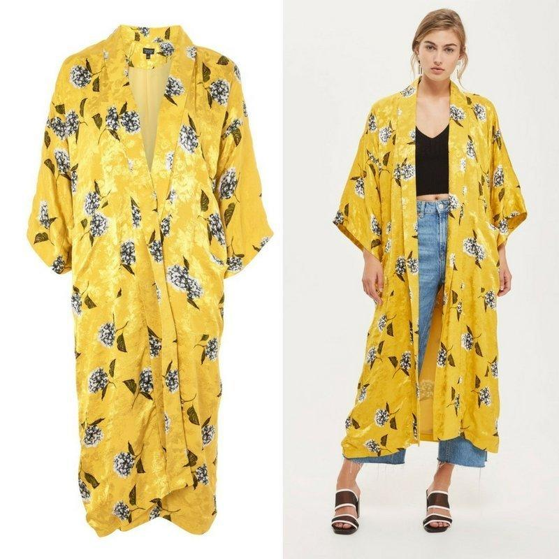 The kimono is currently sold out on Topshop's U.K. website. (Topshop)
