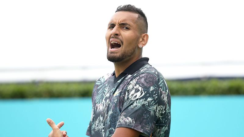 Pictured here, Nick Kyrgios at the Queen's Club event in 2019.