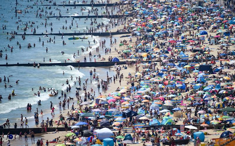 Brits have descended on the country's beaches during the recent heatwave - Getty