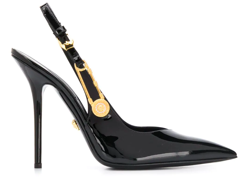 Versace's Safety Pin pumps. - Credit: Courtesy of Farfetch