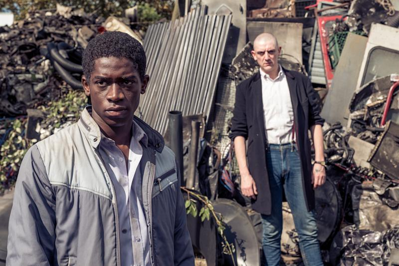 Damson Idris and John Dagleish star in the hard-hitting British drama 'Farming'.
