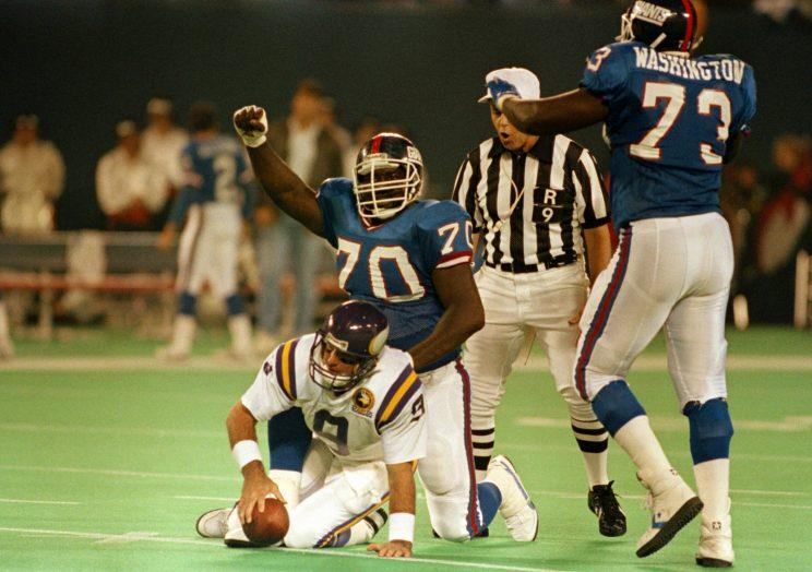 Leonard Marshall (70) played in 12 NFL seasons. (AP)