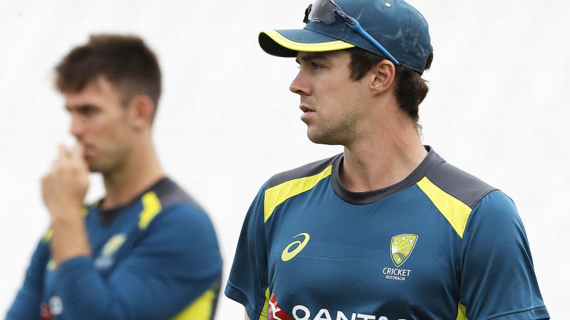 Mitch Marsh and Travis Head, pictured here during an Australian training session.
