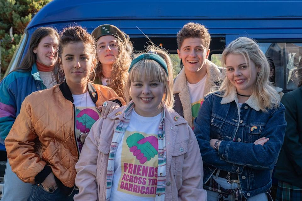 """<p>Looking for a laugh? The girls of Derry are here to give you two seasons of adventures so wild, you won't be able to hold back the laughter. This British sitcom follows the personal exploits of 16-year-old Erin Quinn and her four best friends during the tough times that her small town face in the early '90s. </p> <p>Watch <a href=""""https://www.netflix.com/title/80238565"""" class=""""link rapid-noclick-resp"""" rel=""""nofollow noopener"""" target=""""_blank"""" data-ylk=""""slk:Derry Girls""""><strong>Derry Girls</strong></a> on Netflix now.</p>"""
