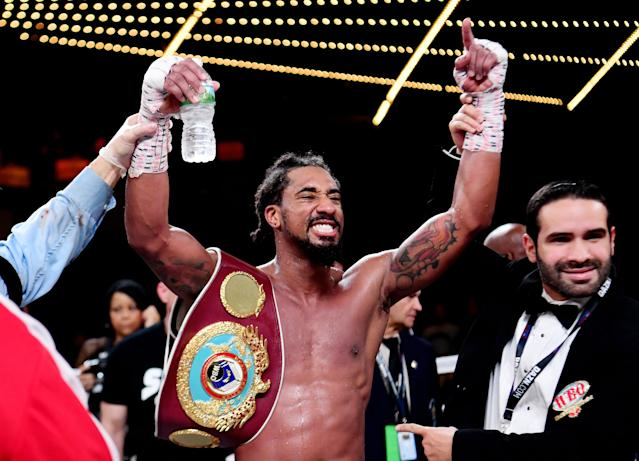 Demetrius Andrade makes no apologies for the way he fights or the style he uses. (Sarah Stier/Getty Images)