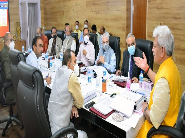 Visuals of e-library inauguration by LG Manoj Sinha in Jammu and Kashmir