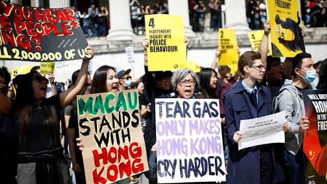 Hong Kong's protests have pitted relatives and friends against one another, including those who no longer live in the city.