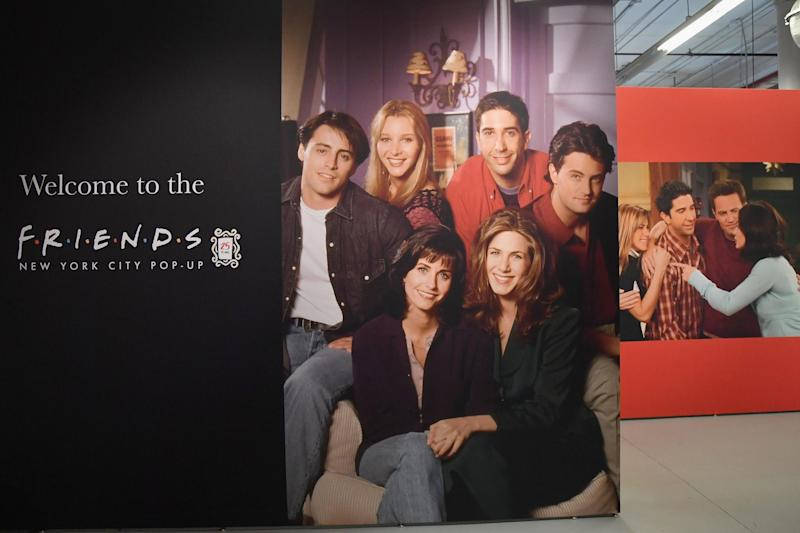 Posters of the Friends cast at the Friends New York City Pop-Up press preview on 5 September, 2019 in New York: ANGELA WEISS/AFP/Getty Images