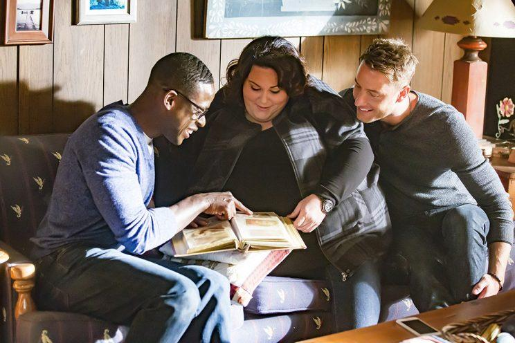 Sterling K. Brown as Randall, Chrissy Metz as Kate, Justin Hartley as Kevin (Credit: Ron Batzdorff/NBC)