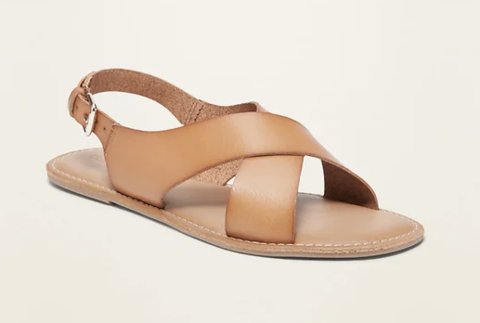 Crisscross Faux-Leather Slingback Sandals (Credit: Old Navy)