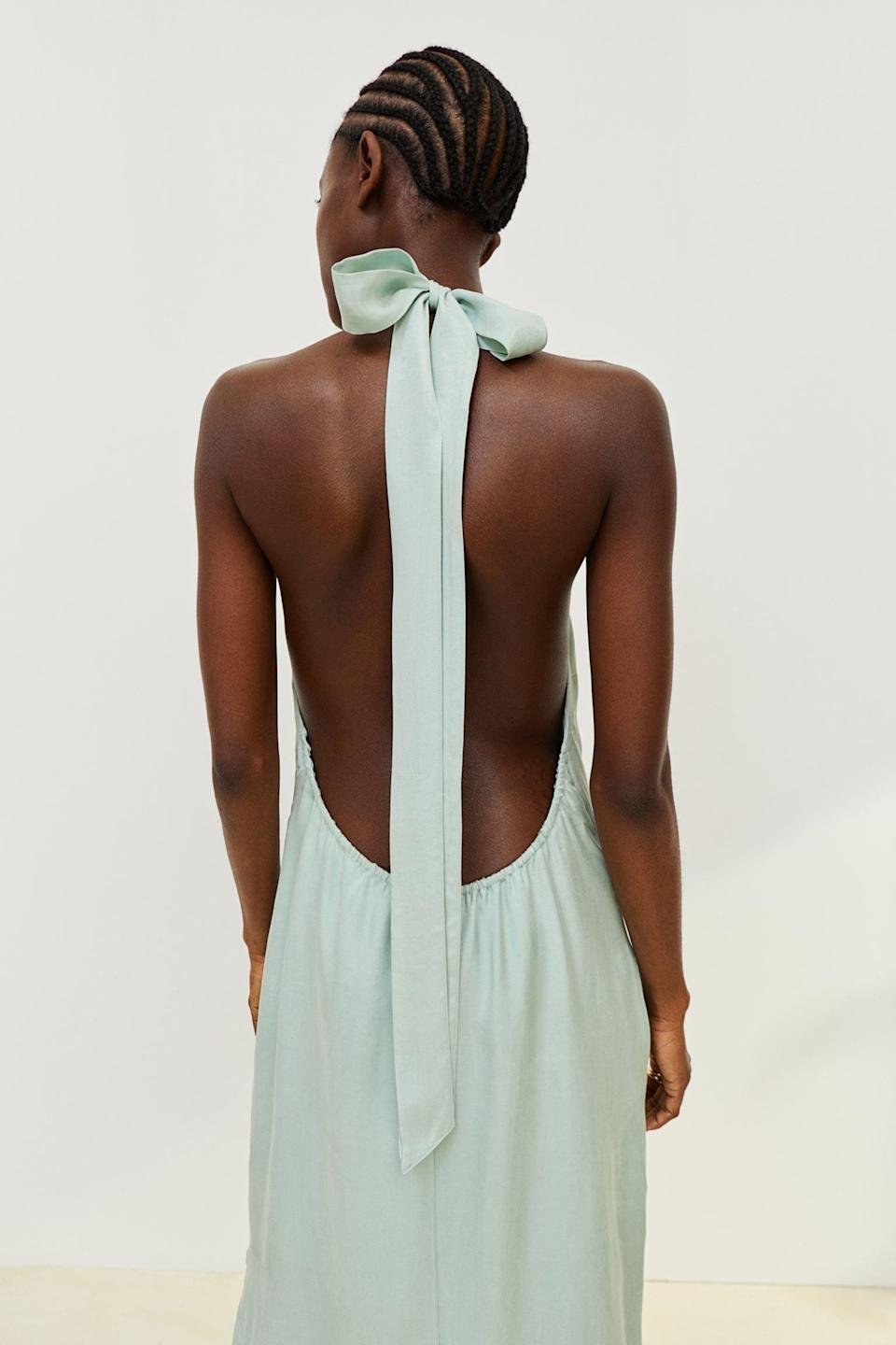 <p>This <span>Halterneck Dress</span> ($36, originally $40) will absolutely stun everyone at the next party. We're sold on the back alone.</p>