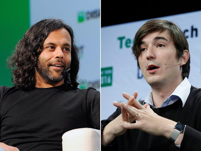 Baiju Bhatt (left) and Vlad Tene are co-founders of commission-free trading app Robinhood.