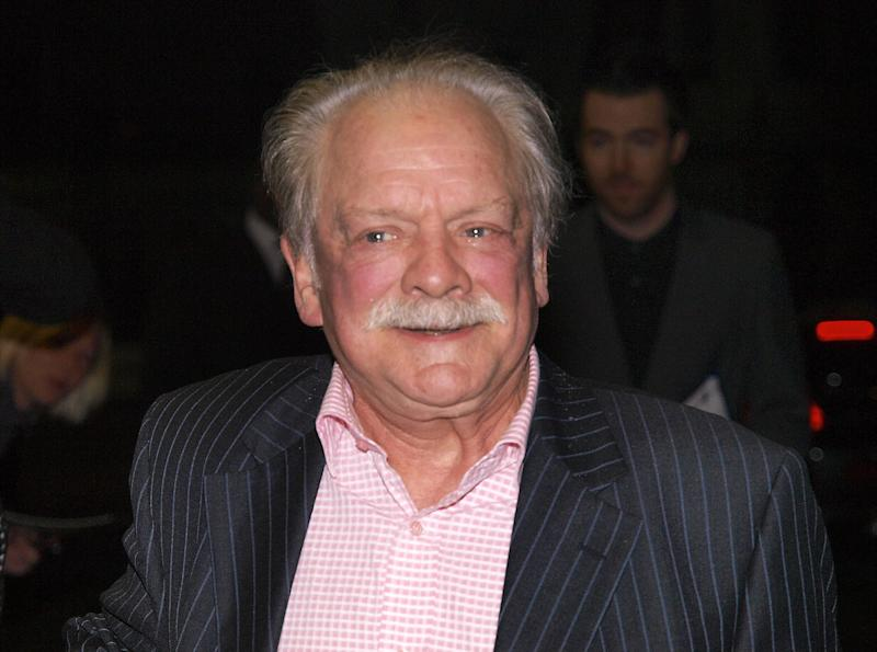 British actor Sir David Jason arrives for the World Premiere of his latest fim, 'The Colour of Magic' in London's Mayfair on March 3, 2008. AFP PHOTO/MAX NASH (Photo credit should read MAX NASH/AFP via Getty Images)