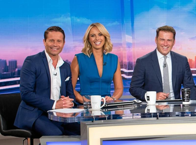 Steven Jacobs with Sylvia Jeffereys and Karl Stefanovic on the Today panel