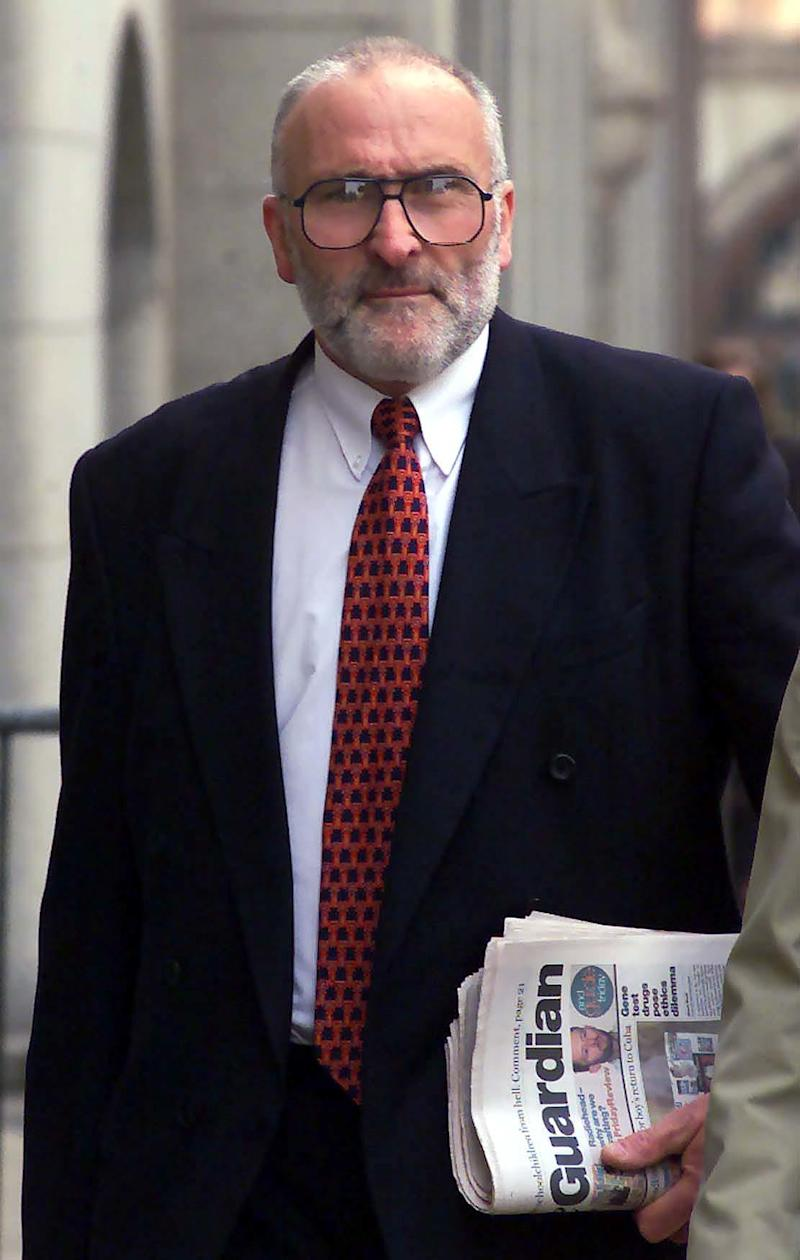 Ken Cameron pictured outside the Old Bailey in 2000 during Noye's trial (Andrew Stuart/PA)