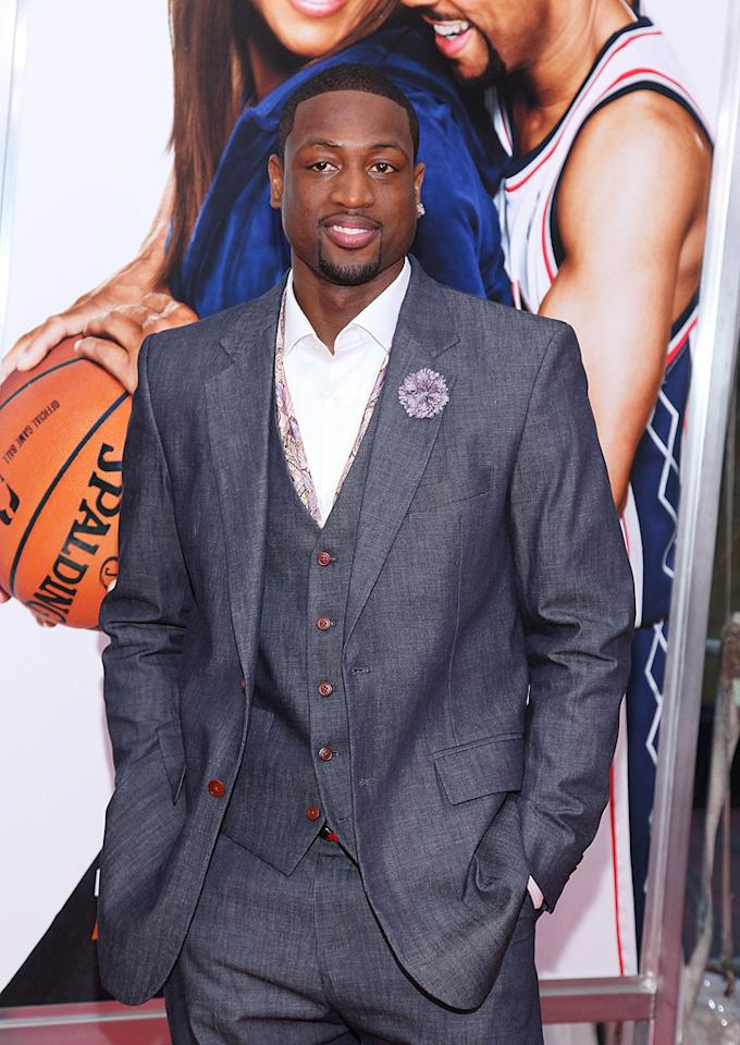 """Dwyane Wade at the New York City premiere of <a href=""""http://movies.yahoo.com/movie/1810088527/info"""">Just Wright</a> - 05/04/2010"""