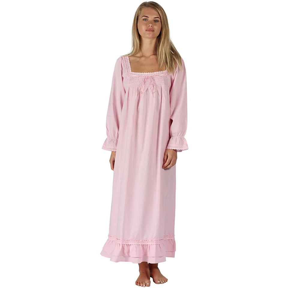 """<h3><a href=""""https://amzn.to/2VaF1xS"""" rel=""""nofollow noopener"""" target=""""_blank"""" data-ylk=""""slk:100% Cotton Nightgown"""" class=""""link rapid-noclick-resp"""">100% Cotton Nightgown</a></h3><br><strong>Marissa</strong><br><br><strong>How She Discovered It:</strong> """"I added this style to a roundup for work of <a href=""""https://www.refinery29.com/en-us/nightgown-dress-trend"""" rel=""""nofollow noopener"""" target=""""_blank"""" data-ylk=""""slk:Instagram-inspired nightgown as dresses trend"""" class=""""link rapid-noclick-resp"""">Instagram-inspired nightgown as dresses trend</a> — it has over 1,500 reviews and an Amazon's Choice approval — so then I promptly added it to my own cart.""""<br><br><strong>Why It's A Hidden Gem:</strong> """"I could not be more pleased with this spontaneous purchase. The quality is A+ and I feel like an extra in a Sofia Coppola flick floating around the house in diaphanous cotton nightie while doing the most mundane chores. (Plus, it looks a little bit like those <a href=""""https://the-sleeper.com/en/product/flower-loungewear-dress/"""" rel=""""nofollow noopener"""" target=""""_blank"""" data-ylk=""""slk:pricey Sleeper frocks"""" class=""""link rapid-noclick-resp"""">pricey Sleeper frocks</a> but for a fraction of the price.)""""<br><br><strong>The 1 For U</strong> Martha 100% Cotton Nightgown, $, available at <a href=""""https://amzn.to/31bZ5nt"""" rel=""""nofollow noopener"""" target=""""_blank"""" data-ylk=""""slk:Amazon"""" class=""""link rapid-noclick-resp"""">Amazon</a>"""