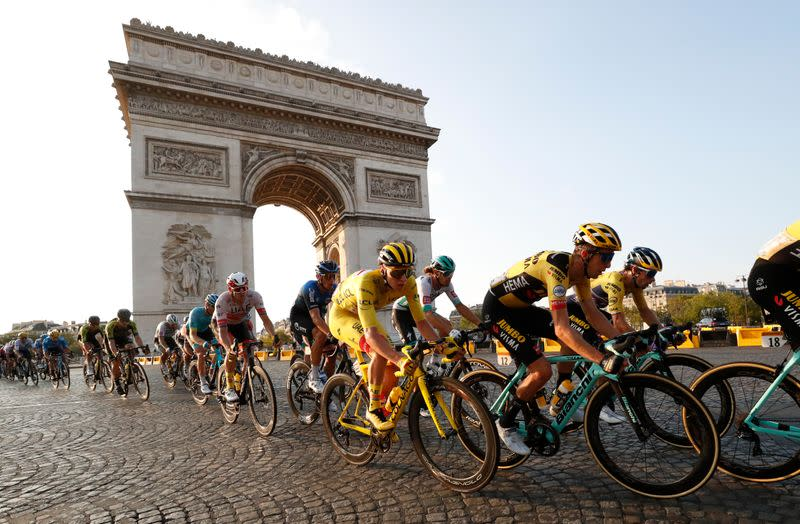 Tour de France winds down with socially-distanced finale