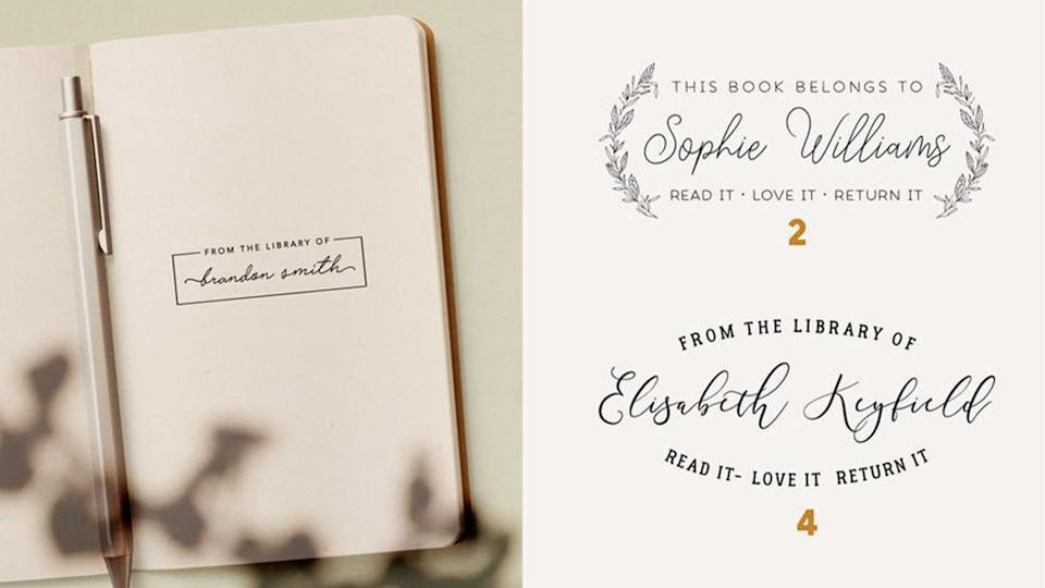Best gifts for book lovers: Customized library stamp