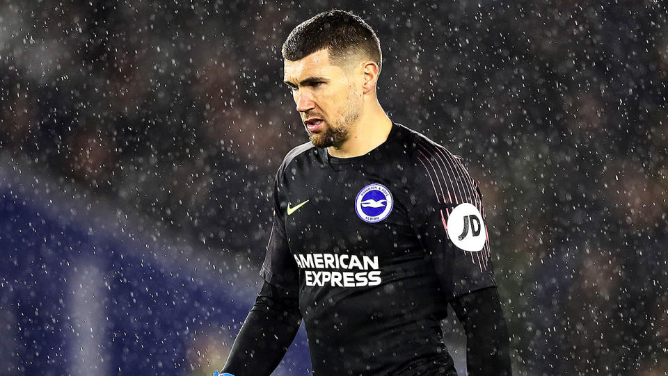 Former Arsenal winger Perry Groves apologised after a comment regarding Mat Ryan's (pictured) game against Sheffield United. (Getty Images)