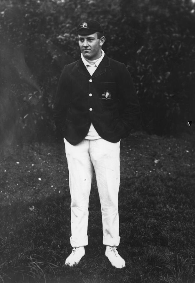 1st September 1915:  Australian bowler who joined the Infantry Regiment.  (Photo by Hulton Archive/Getty Images)