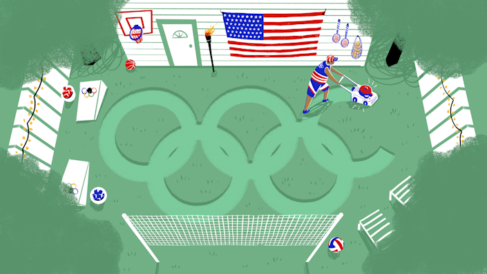 Pick up some Olympic hardware, all in the comfort of your own backyard.