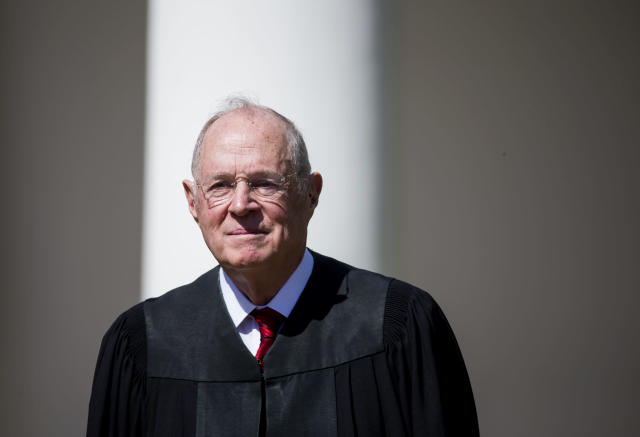 Justice Anthony Kennedy in April. (Photo: Eric Thayer/Getty Images)