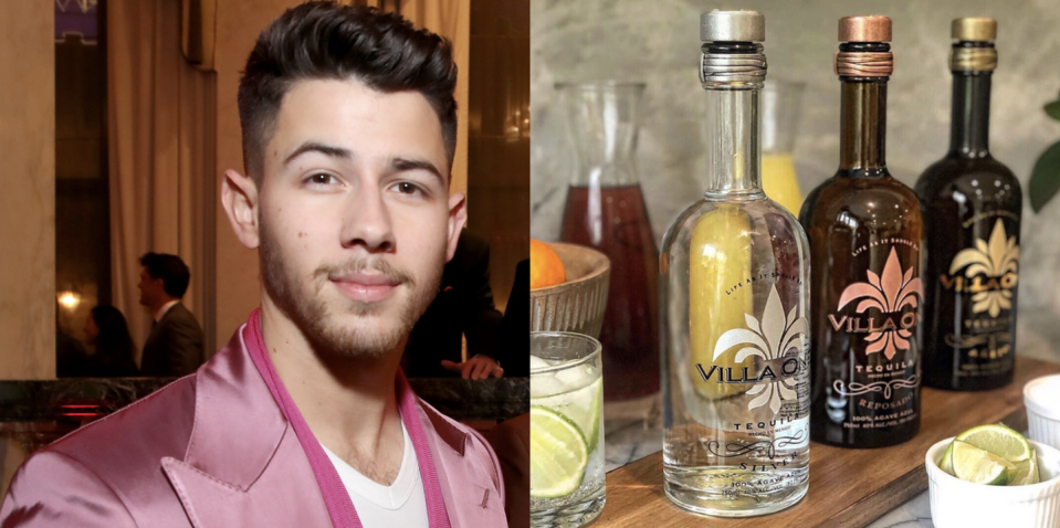 """<p>In partnership with the fashion designer John Varvatos, Nick Jonas created Villa One Tequila in August 2019 with the goal of making this ultra-premium tequila from sustainably sourced 100% blue weber agave that's matured five to seven years and sourced from the highland and lowland regions of Jalisco, Mexico.</p><p><a class=""""link rapid-noclick-resp"""" href=""""https://go.redirectingat.com?id=74968X1596630&url=https%3A%2F%2Fwww.reservebar.com%2Fcollections%2Fvilla-one-tequila&sref=https%3A%2F%2Fwww.delish.com%2Ffood%2Fg32949671%2Fcelebrity-alcohol-brands%2F"""" rel=""""nofollow noopener"""" target=""""_blank"""" data-ylk=""""slk:BUY NOW"""">BUY NOW</a> <strong><em>from</em></strong> <em><strong>$47 , reservebar.com</strong></em></p>"""