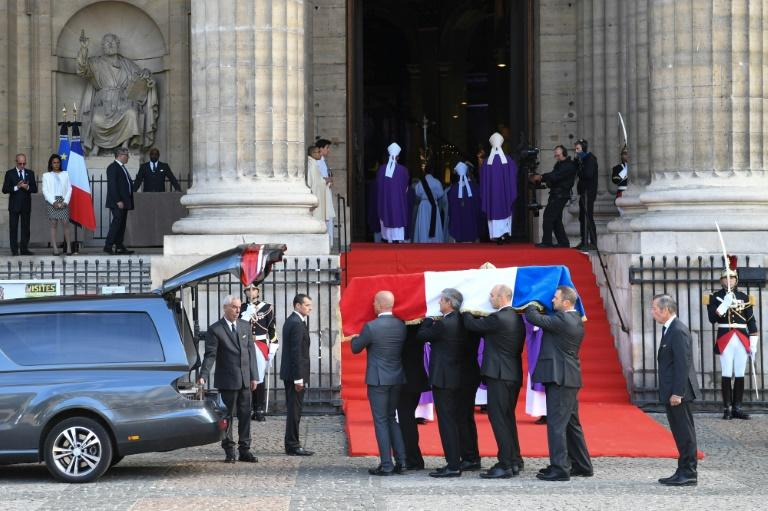 The funeral service was held at the Saint-Sulpice church in central Paris (AFP Photo/ERIC FEFERBERG)