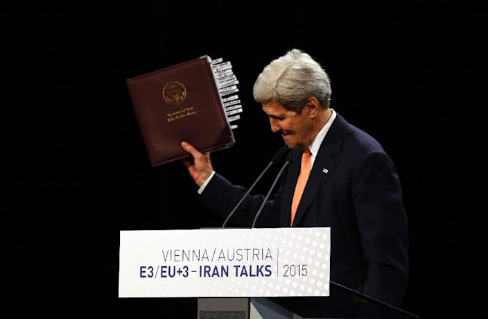 The IAEA report will allow US Secretary of State John Kerry and his Iranian and EU counterparts to announce in Vienna that the nuclear deal can enter into force (AFP Photo/Carlos Barria)
