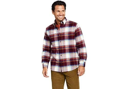 Lands' End Men's Traditional Fit Pattern Flagship Flannel Shirt. (Photo: Amazon)