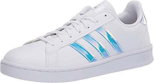 adidas womens Grand Court Tennis Shoe, Ftwr White/Silver Met Silver Met., 4.5 US (Amazon / Amazon)