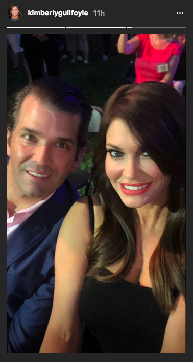 The Fox News host shared this snapshot of them taken during the festivities. (Image: Kimberly Guilfoyle via Instagram)