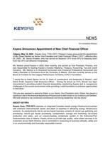 Keyera Announces Appointment of New Chief Financial Officer (CNW Group/Keyera Corp.)