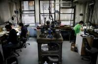 Jewelry workers at the RFG Manufacturing Riviera jewelry design facility in New York