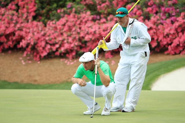 """<h1 class=""""title"""">Bryson DeChambeau 2019 Masters - Round One</h1> <div class=""""caption""""> Bryson DeChambeau and Patrick Reed in the top five at Augusta? Golf Twitter would be ablaze. </div> <cite class=""""credit"""">(Photo by Andrew Redington/Getty Images)</cite>"""