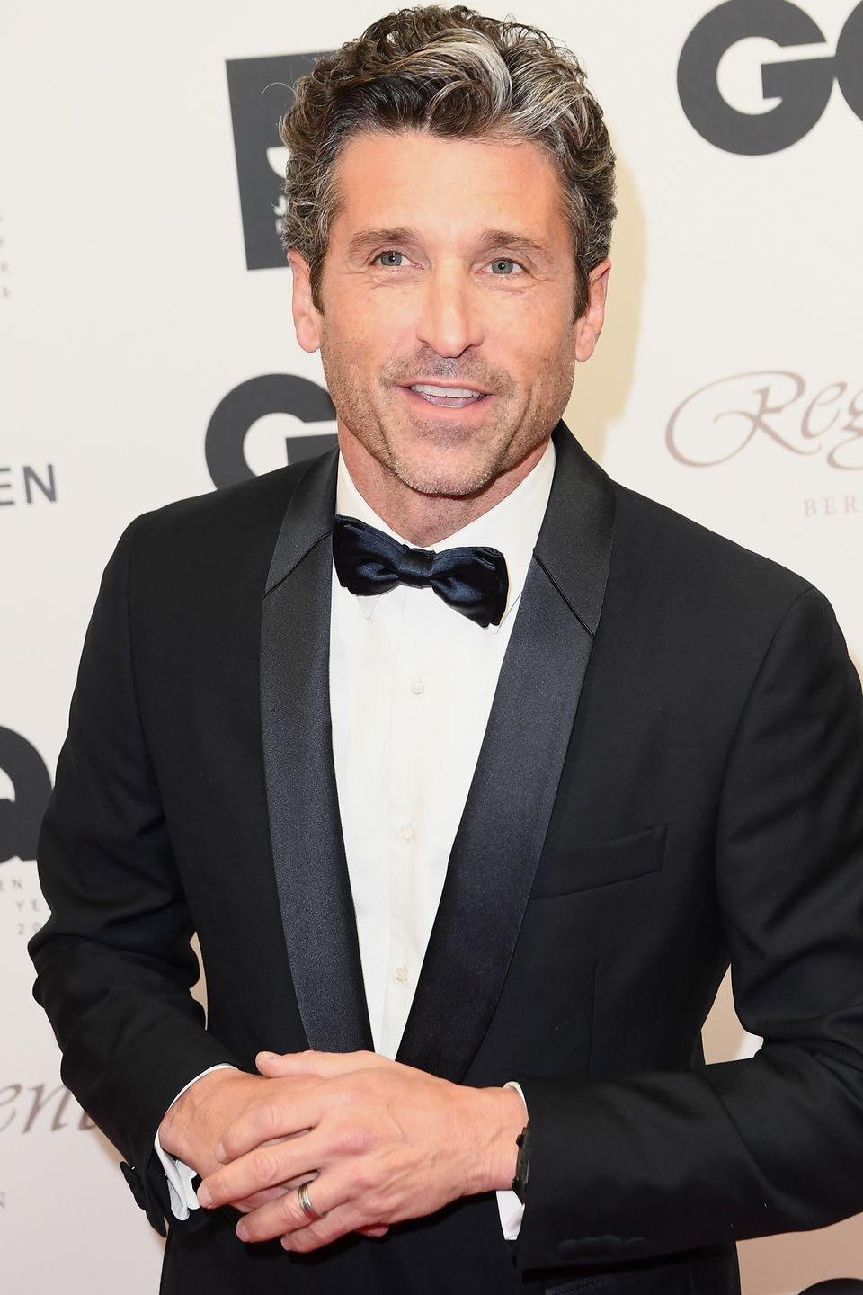 """<p>He famously played a doctor on TV, but Dempsey <a href=""""https://www.biography.com/people/patrick-dempsey-201303"""" rel=""""nofollow noopener"""" target=""""_blank"""" data-ylk=""""slk:dropped out"""" class=""""link rapid-noclick-resp"""">dropped out</a> of school at 17.</p>"""