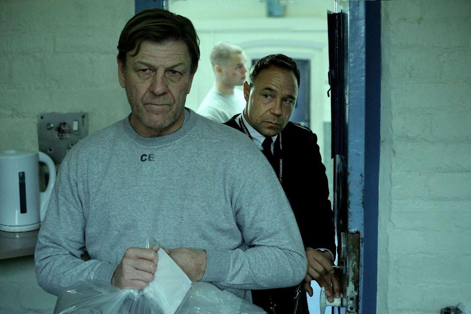 <p>Two powerhouse actors, Sean Bean and Stephen Graham, star as a prisoner and prison officer, respectively, in the BBC's upcoming series, Time. Bean plays Mark Cobden, an inmate 'consumed by guilt after accidentally killing an innocent man' and embarking on a four year sentence. Inside, he meets Eric McNally (Stephen Graham), described as a 'caring prison officer doing his best to protect those in his charge. However when one of the most dangerous inmates identifies his weakness, Eric faces an impossible choice; between his principles and his family.'<strong><br><br>Release date: 2021</strong><br></p>