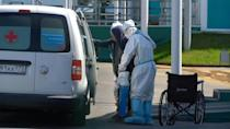 Images of hospital as Moscow records over 9,000 new Covid cases