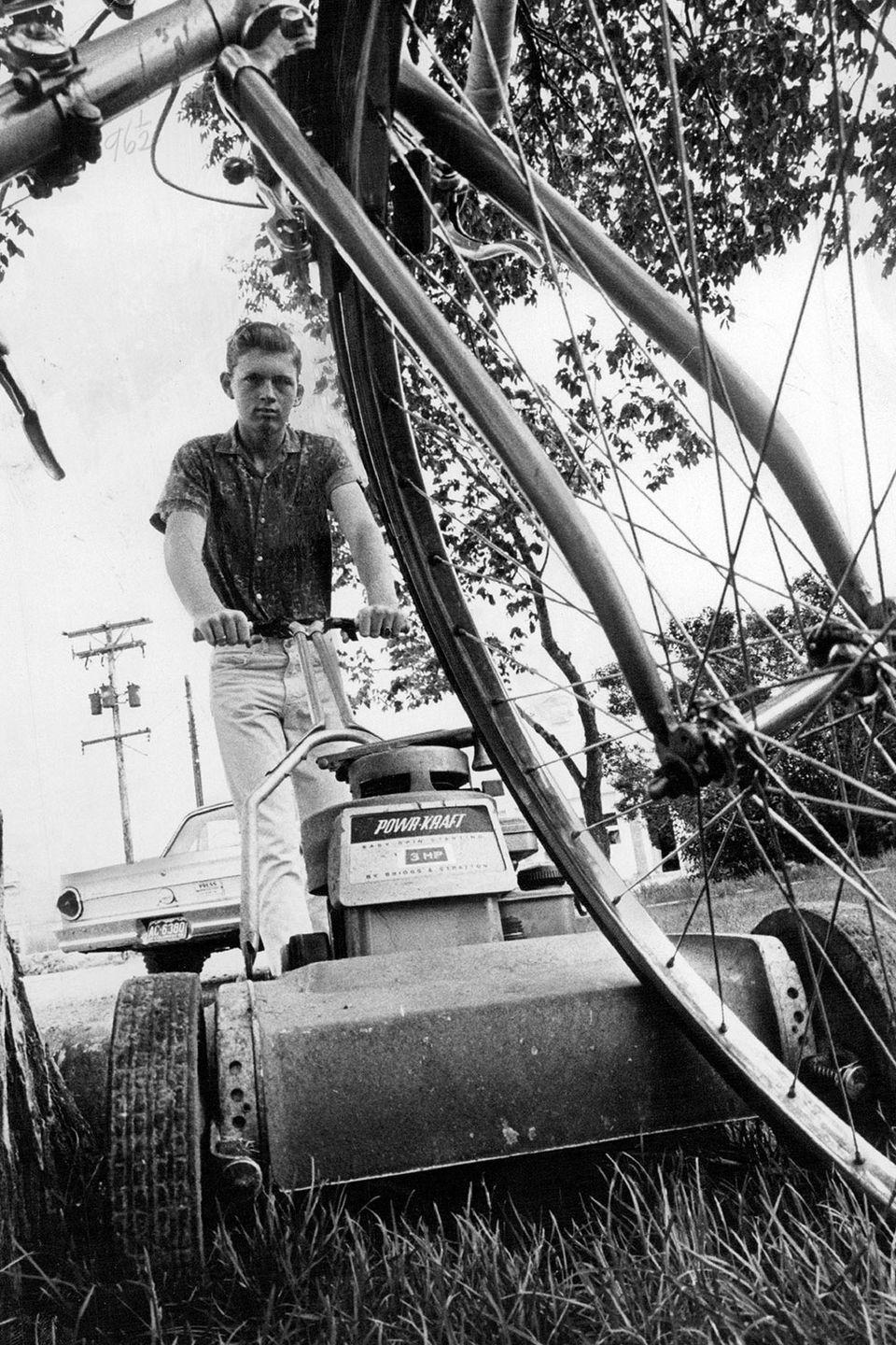 <p>One teenager spent the summer of 1966 earning some extra money by mowing lawns. </p>