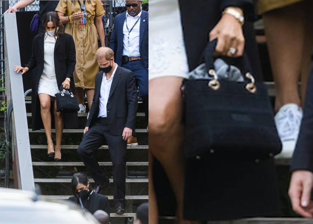 The 'it' bag the Duchess carried in New York bore special significance as it was the 'Lady D-Lite' bag  - named after Princess Diana. (Getty Images)