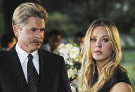 <p><b>Aired:</b> January 21, 2012 on Lifetime<br><b>Stars:</b> Rob Lowe and Kaley Cuoco<br><br><b>Ripped from the headlines about:</b> Arrogant, controlling, philandering Chicago cop Peterson (Lowe at his over-the-top villain-y best), who almost gets away with killing his third wife, even after his fourth wife (Cuoco) goes missing. Peterson is currently serving a 38-year sentence for third wife Kathleen's murder, but he has not been charged in a crime connected to fourth wife Stacy, whose body remains MIA.<br><br><i>(Credit: Lifetime)</i> </p>