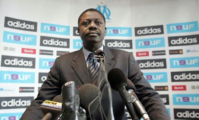 Former president of Marseille football club Pape Diouf (AFP Photo/BORIS HORVAT)