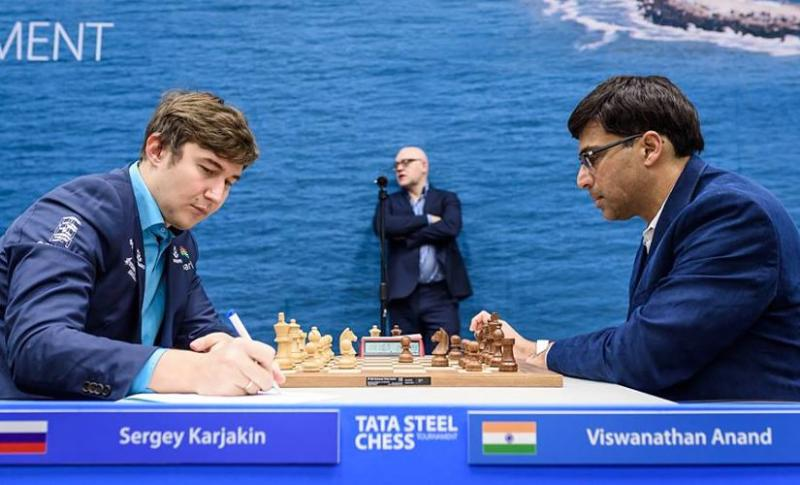 Tata Steel Chess Round 2: Anish Giri takes sole lead; Viswanathan Anand in joint 2nd after draw