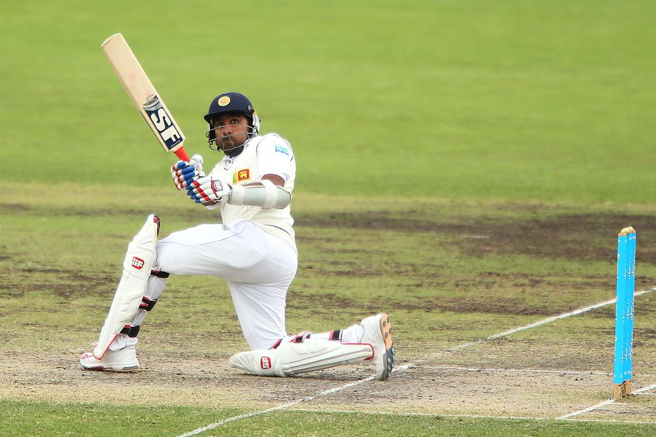 CANBERRA, AUSTRALIA - DECEMBER 07:  Mahela Jayawardene of Sri Lanka bats during day two of the international tour match between the Chairman's XI and Sri Lanka at Manuka Oval on December 7, 2012 in Canberra, Australia.  (Photo by Brendon Thorne/Getty Images)
